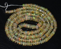 32.45Ct Natural Ethiopian Welo Opal Beads Play Of Color OB134