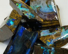 Handpicked Colourful Rough Boulder Opals of Winton to Cut #53