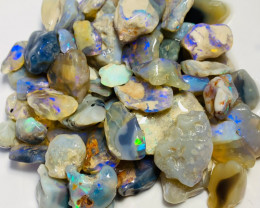 Bright Multicolour Rough Nobby Opals with Stunning Carvers & Cutters