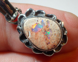 12.83ct Natural Mexican Cantera Opal .925 Sterling Silver Pendant