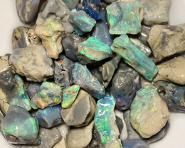 Multicolour Bright Rough Nobby Opals to Carve & Cut #77
