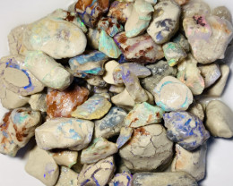 310 CTs of Coloutful Bright Rough Nobby Opals With Good Potential#79