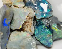 Multicolour Bright Rough Seam Opals to Carve / Cut #80