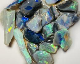 Cutters Multicolour Bright Rough Seam Opals - 53 CTs#88
