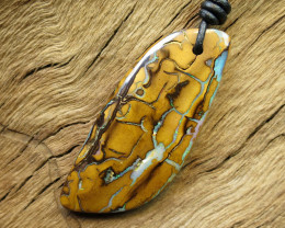 74cts, YOWAH OPAL MINER~LEATHER PENDANT.