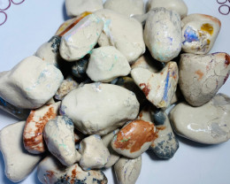 2250 Cts of Big Rough Nobby Opals Showing Colours to Gamble