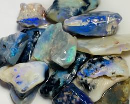 Stunning Bright Rough Seam Opals to Cut- Video Plz #98