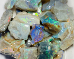 Colourful Potential Bright Rough Seam Opals to Cut- 65 CTs #121