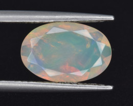 Natural Welo Opal  1.79 Cts Faceted Gem, Excellent Fire and Play of Colors