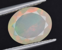 Natural Welo Opal  1.92 Cts Faceted Gem, Excellent Fire and Play of Colors