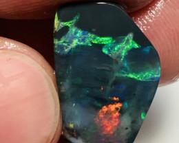 Magnificent Bright Colourful Black Picture Opal Rub***#143
