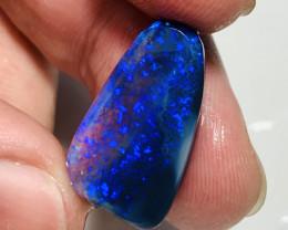 Big Black Gem Bright Solid/Natural Semi Finished Opal- Jewelry Grade