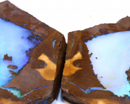 1220Cts Chunky Large Boulder Opal Rough Pair DT-A6006 dreamtimeopals