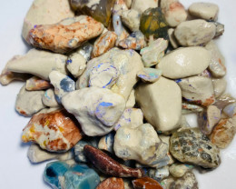 650 Cts of Rough Nobby Opals with Colours Here and There to Explore