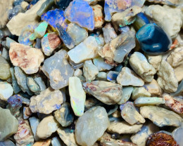 620 Cts of Rough Nobby Opals with Plenty of Colours to Gamble