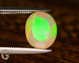 Rare Faceted Welo Opal 2.0 Carat AAA Fire~ Ethiopa Mined !