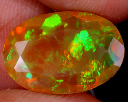 3.09cts Natural Ethiopian Faceted Welo Opal / UX2240