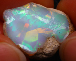 13.87Ct Multi Color Play Ethiopian Welo Opal Rough G1405/R2