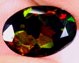 1.04cts Natural Ethiopian Welo Faceted Smoked Opal / NY4087