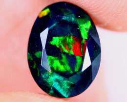 1.79cts Natural Ethiopian Welo Faceted Smoked Opal / NY4089