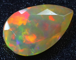 Welo Opal 1.56Ct Natural Cabochon Ethiopian Play of Color Opal G1504/A3