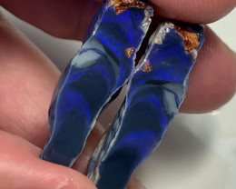 Beautiful Black Seam Opal Split to Cut & Polish