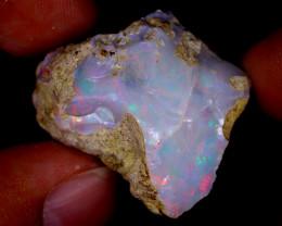 34cts Natural Ethiopian Welo Rough Opal / PA1537