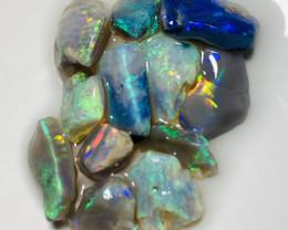 Multicolour Beautiful Bright Rough Opals to Cut #353