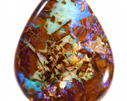 18.90 cts Double sides Boulder Opal Wood Fossil Polished Stone CS1208