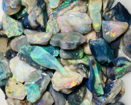 95 CTs SMALL SIZE Multicolour Bright Rough Opals- Refer to video and size i