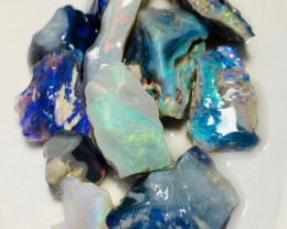 Multicolour Rough Seam Opals - Must See The Video