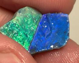 Pair of Bright Rough Seam Opals