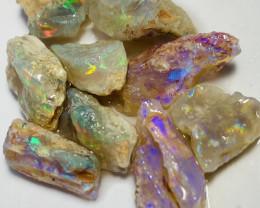 (video plz) Multicolour Bright Rough Crystal Opals-Gorgeous Rough** #448