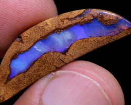 Boulder Pipe Opal Polished Stone AOH-1478   australianopalhunter