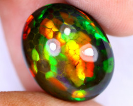 9.53cts Natural Ethiopian Welo Smoked Opal / HEUX2607