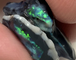 Pair of Untouched Black Rough Opals- Refer to video and size info#454