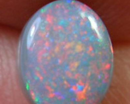 {RO} LIGHTNING RIDGE SOLID BLACK OPAL .66ct *$5NR SPECIALS*