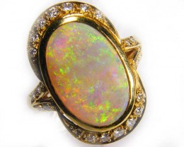 Gold Crystal Opal Rings