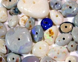 BLACK OPAL BEADS (PARCEL) DRILLED 50 CTS FJ 13033 (FO-TBO)