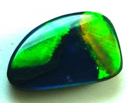 image mountain  GEM  FREEFORM BLACK  OPAL  .80    CARATS      QO2572