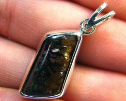 HAND MADE BEZEL SET KOROIT OPAL IN SILVER    MY308