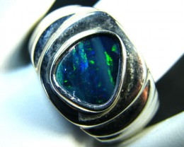 LARGE MODERN STYLE SILVER   OPAL RING SIZE  13  SCA1604