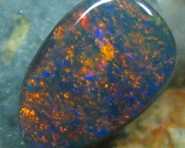 DEEP WINE RED COLOURED SOLID CUT BLACK OPAL .85 CTS 143