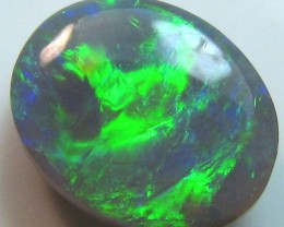 BRIGHT BEAUTIFUL SOLID NATURAL BLACK OPAL COLOUR PLAY A180
