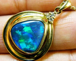 BEAUTIFUL BLACK OPAL 18K GOLD PENDANT 5.10 CTS SCA1688