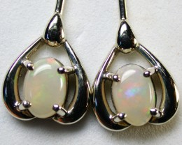 Gold Solid Opal Earrings