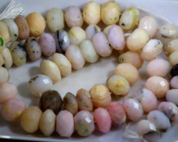 225 CTS  OPAL  FACETED PINK OPAL  BEADS  TBO- 3726