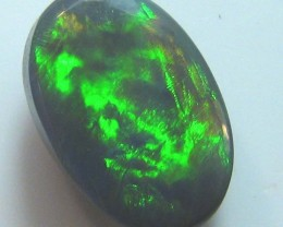 FIREY ORANGE SOLID CUT BLACK OPAL CABOCHON 1.10 CTS A276