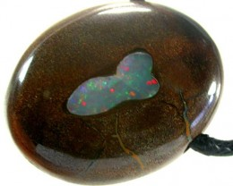 OPAL INLAY PENDANT /STRAP-GREAT POLISH  94CTS [BMP299 ]