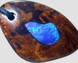 OPAL INLAY PENDANT /STRAP-GREAT POLISH  37CTS [BMP308 ]